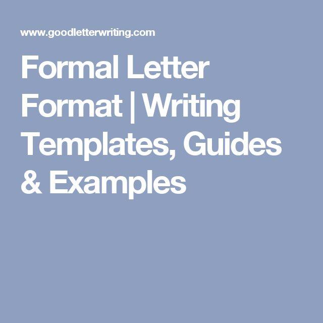 The 25+ best Format of formal letter ideas on Pinterest Letter - letter writing format
