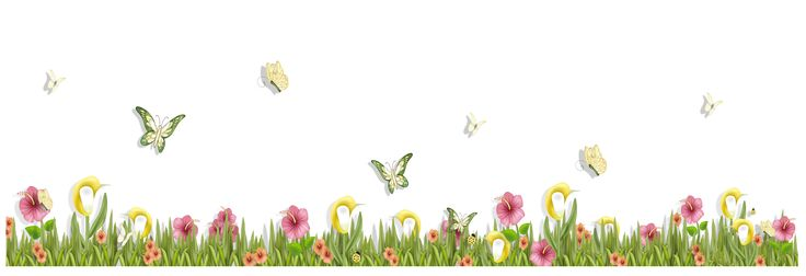 grass with butterflies and flowers png clipart spring clipart spring is coming clip art spring time