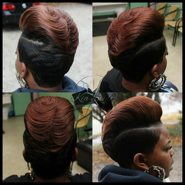 My #pompadour revamped with feathers