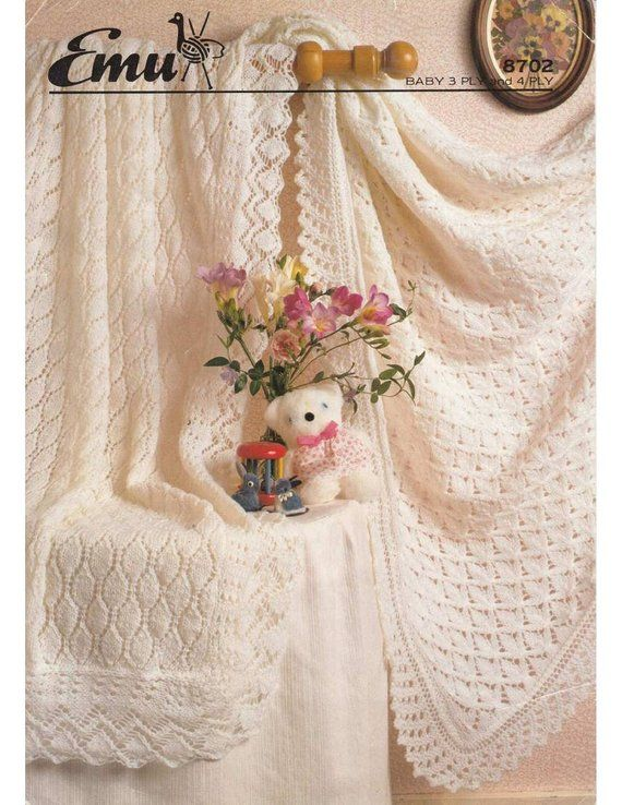 0be5a0942 Vintage knit pattern 2 beautiful baby shawls instant download ...