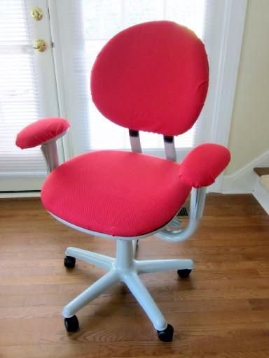 Red DIY Office Chair Covers Design