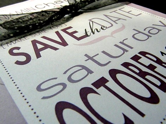 Save The Date Bright Shades of Purple by littletoad on Etsy, $40.00