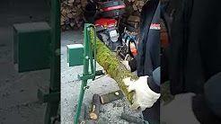 Hand made tools, Stojan na rezanie dreva, Drvič ovocia, Kuželová štiepačka. - YouTube