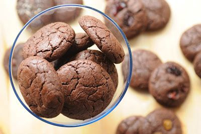 BaBy w kuchni: Ciasteczka na maślance ekstremalnie czekoladowe