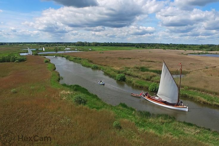 Wherries on the River Ant in the Norfolk Broads