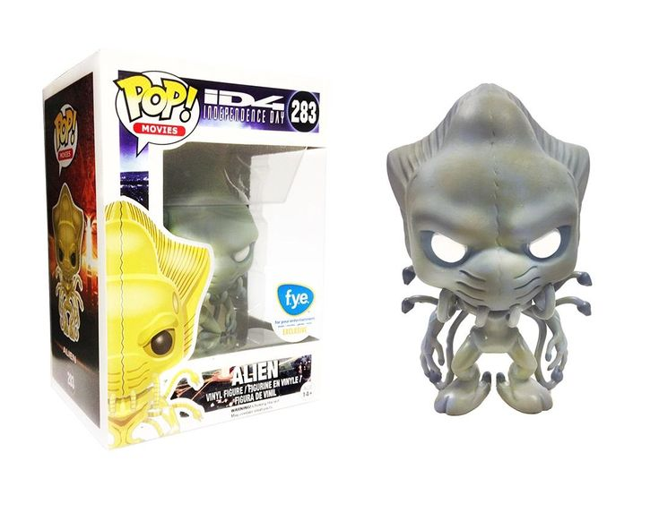 Independence Day Alien with white eyes Pop figure by Funko, FYE exclusive