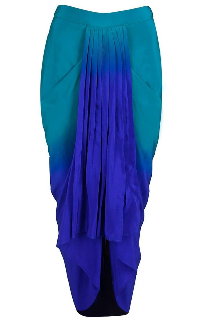 Tree of life draped top with obre dhoti skirt available only at Pernia's Pop-Up Shop.