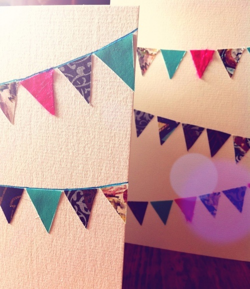 DIY bunting cards
