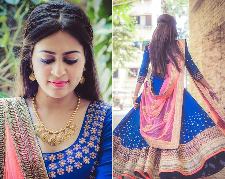 Rhea Patel in a cobalt blue Lehenga by Madsam Tinzin and Jewellery by Azva. The bride-to-be blogs about her experience with WeddingSutra on Location@AZA, the multi-designer store in Juhu, Mumbai