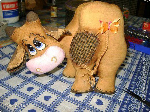 Игрушка Мастер-класс Шитьё Шьём -Смешную коровку- М К Клей Кофе Краска Ткань фото 44