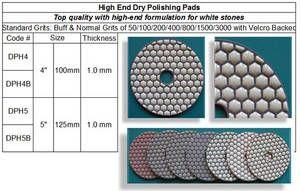 High End Dry Polishing Pad