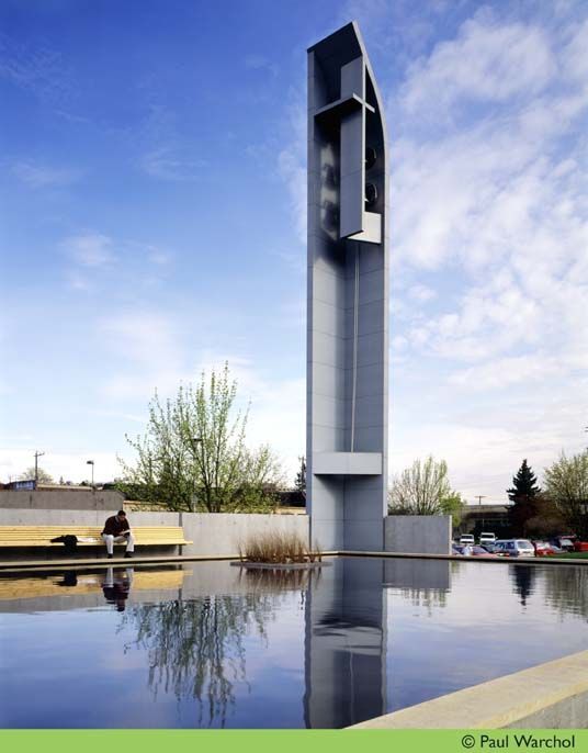 Cool bell tower!! - Chapel of St. Ignatius / Steven Holl Architects