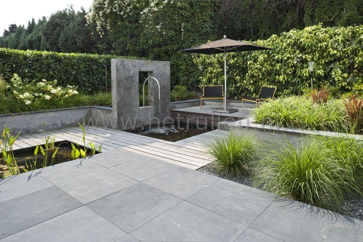 Tuinontwerp tuinaanleg eindhoven helmond patiotuin kleine for Moderne vijvers foto s