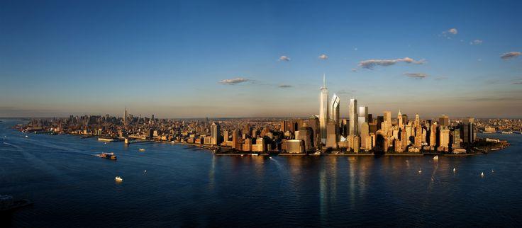 New York Skyline Dual Monitor Screen Wallpaper