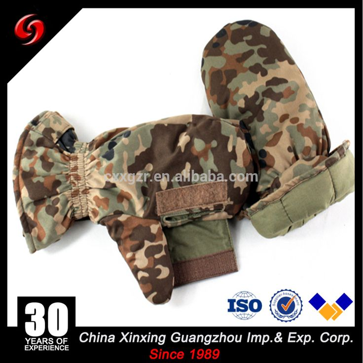 Camouflage military winter waterproof ski gloves / snow gloves