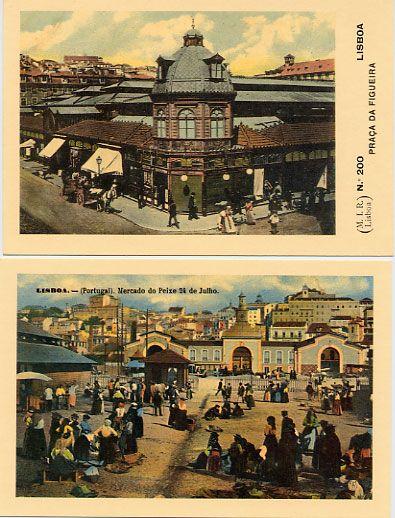 Lisboaaaa: postais antigos de Lisboa