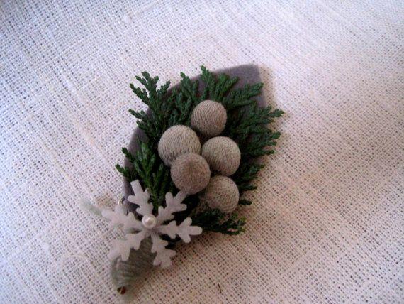 Wedding boutonniere groomsmen buttonhole by FlowerDecoupage, €4.25