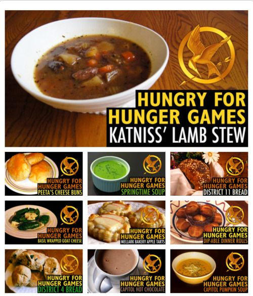 ochigenalang14:  awesome recipes from The Hunger Games trilogy. :)