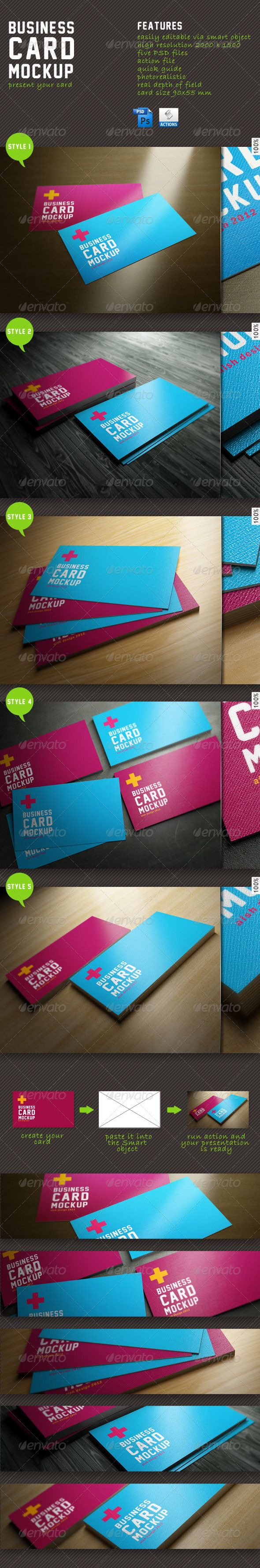 718 best business card mockup images on pinterest miniatures business card mockuppresent your card features easily editable via smart object high resolution five psd files action file quick guide photorealistic real reheart Gallery