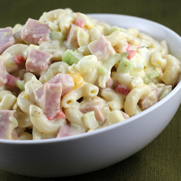 . Macaroni and Ham Salad Recipe from Grandmothers Kitchen.