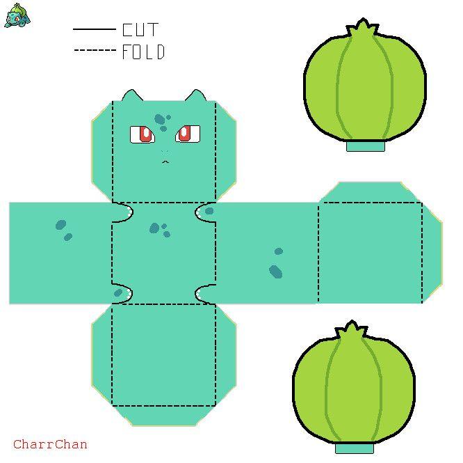 Bulbasaur Paper Craft by CharrChan.deviantart.com on @DeviantArt