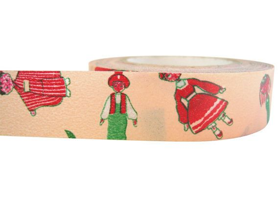 Kokeshi Tape by ZigZakka on Etsy