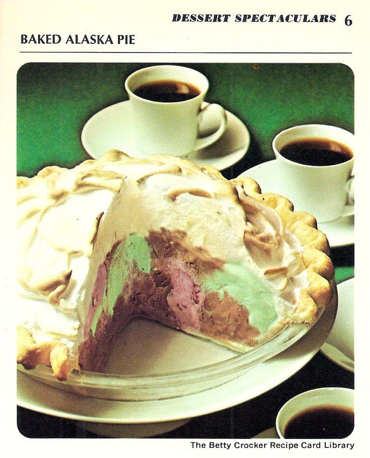 Baked Alaska Pie « Vintage Recipe Cards