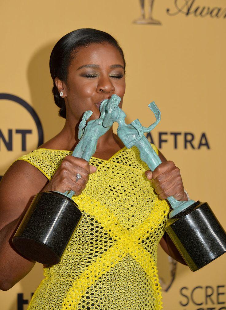This Is the Moment Uzo Aduba Won Her SAG Award.