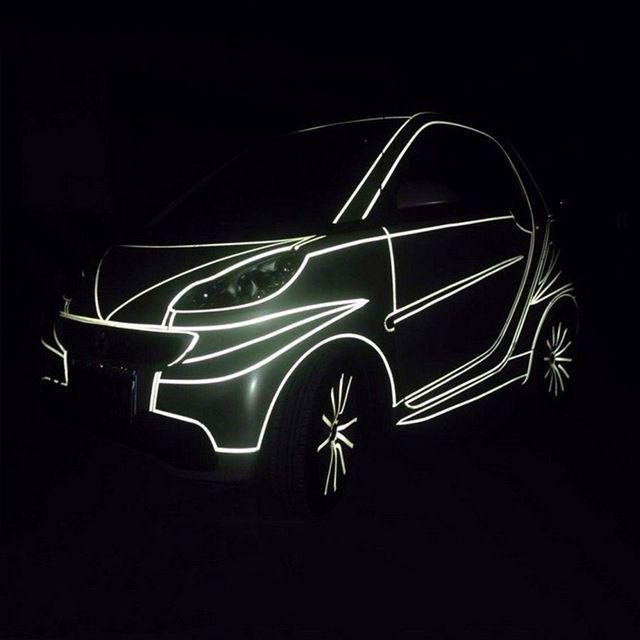 Wheel Sticker Tape Self Adhesive 5M Reflective Car Body Trims Rims Roll Decal