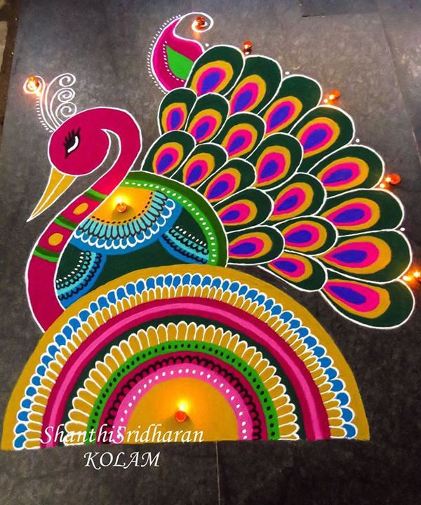 #peacock#kolam                                                                                                                                                                                 More