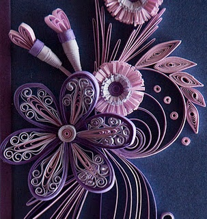 Cool quilling: Quilling Cards, Quilling Beautiful, Purple Flowers, Paper Art, Beautiful Quilling, Quilling Paper, Quilling Flowers, Paper Quilling, Paper Crafts