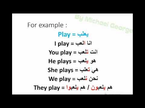 Present tense & verb conjugation in Arabic - YouTube