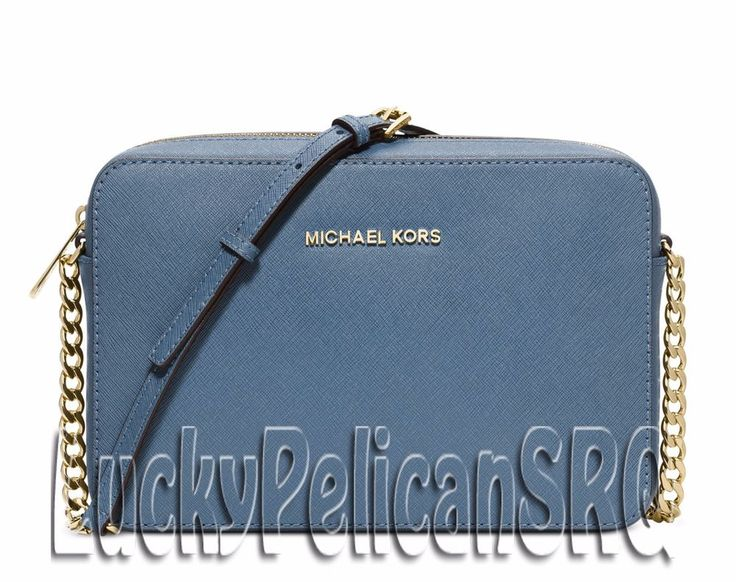 Michael Kors Jet Set Travel Large Crossbody Messenger Bag Cornflower Blue NWT #MichaelKors #MessengerCrossBody