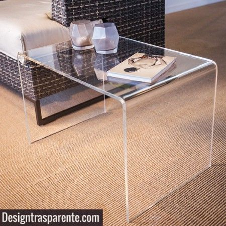 Perspex coffee table 70x30 h:40