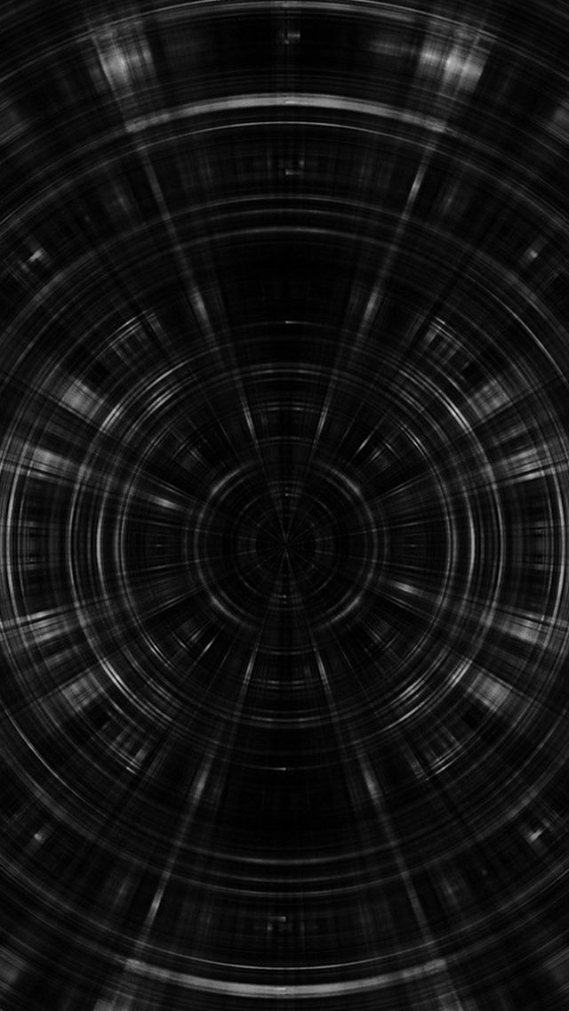 Psychic Circle Abstract Dark Pattern Bw #iPhone #5s #wallpaper