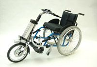 Handbike : The Firefly is an electric bike you attach to a manual wheelchair.~ http://www.rollick.biz/en/products/firefly/firefly.html
