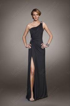 A-lin,One Shoulder,Black ,evening Dress