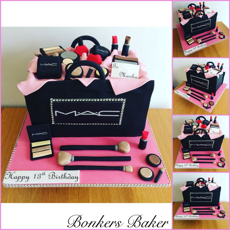 MAC Make Up Bag Cake