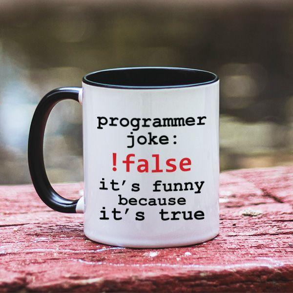 """Cadoul perfect pentru un programator sau it-ist? Te putem ajuta cu asta! Acest model de cana este perfect pentru prietenul tau programator. Cu totii stim ca acestia iubesc cafeaua si nu pot """"functiona"""" bine fara ea, asa ca o cana cu un mesaj haios poate fi caodul perfect. Mai ales una ca aceasta, cu o gluma pe gustul lor."""