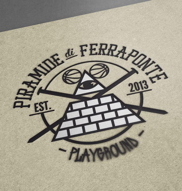 Piramide di Ferraponte: Logo | Michele Franzese #michelefranzese #theredislove #rosso #corporate #identity #logo #design #piramide #ferraponte #basketball #playground #brand #design