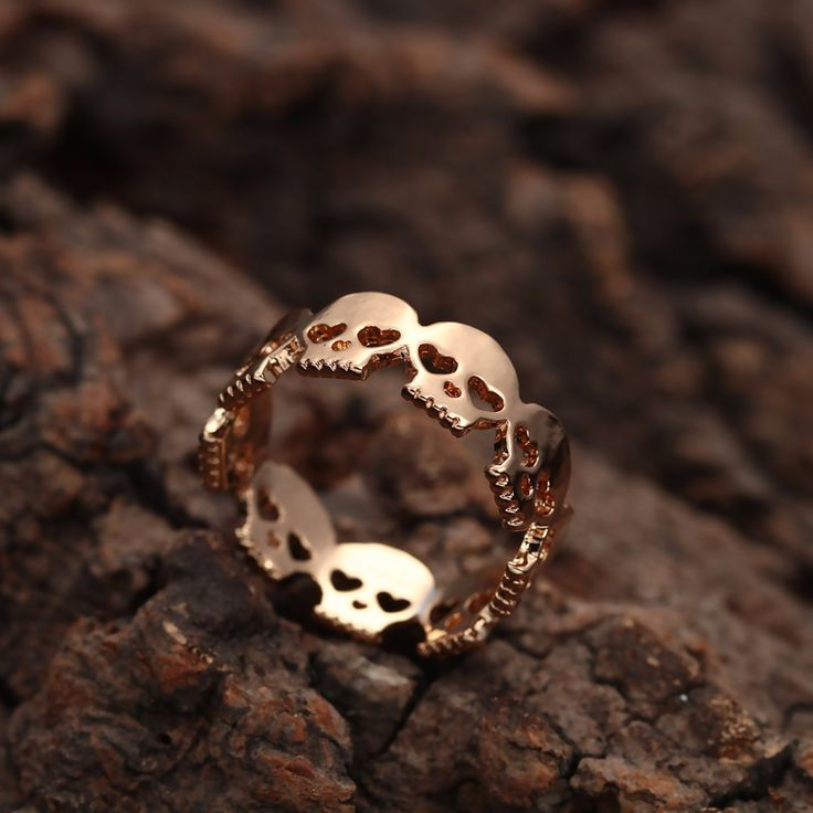 Our Gold Skull Band Ring - also available in silver!  WWW.SHOPOCCULTA.COM  #grunge #goth #heart #love #quartz #crystal #bohogrunge #moon #ring #rings #western #boho #bohemian #witch #labradorite #phases #opalite #rainbowmoonstone #moonphase #tribal #gemstone #Jewelry #instajewelry #musthave #boutique #collar #cute #gifts #skull #skulls