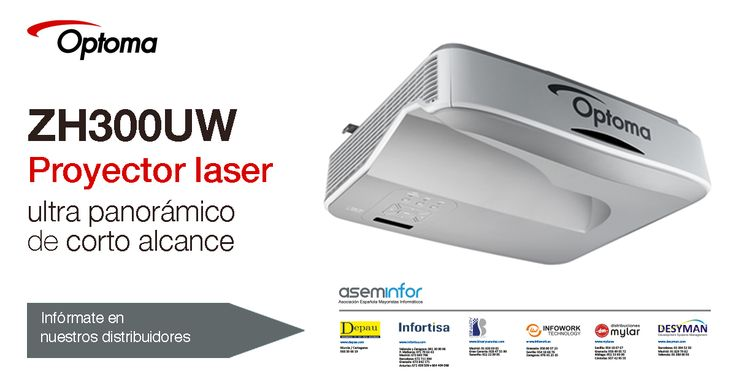 Optoma: Proyector laser ultra panorámico de corto alcance