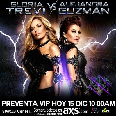 Today Starts The Presale Vip Of The Expected Concert Of Gloria Trevi Vs Alejandra Guzman