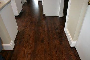 red oak flooring colors   Replacement old Douglas Fir floor with new Red Oak floor kitchen