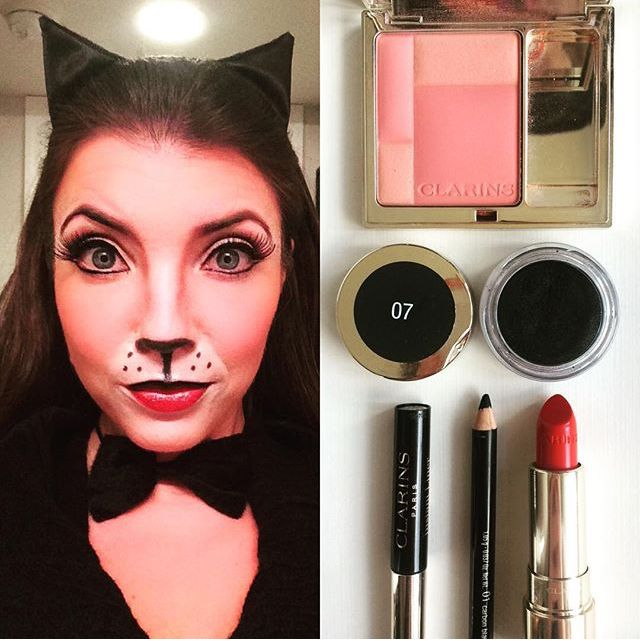 cat make up for halloween maquillage de chat pour l. Black Bedroom Furniture Sets. Home Design Ideas