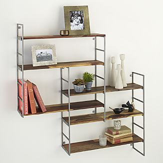 Lovely Rubix Shelf  Could Also Make This If You Found The Correct Iron Shelves Good Ideas