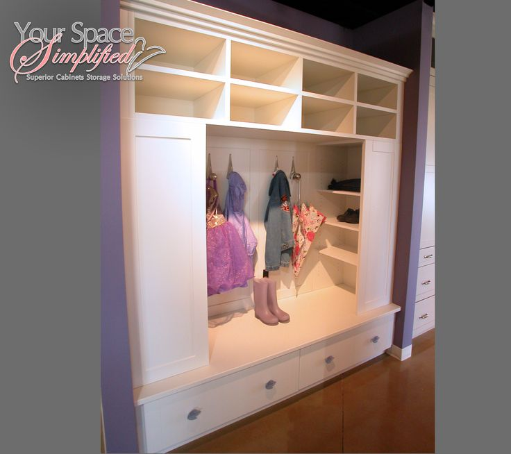 Custom Locker for a Mudroom by @Superior Cabinets