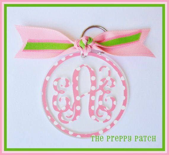 Custom+Personalized+Monogrammed+Acrylic+Round+by+thepreppypatch,+$10.00