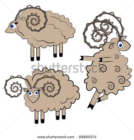 Black Sheep Cartoon | dancing sheep vector illustration. animal set.isolated characters on ...