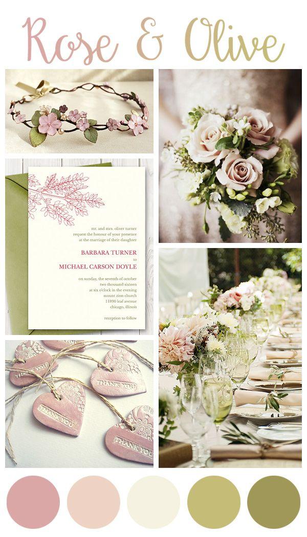 Rose and Olive green wedding inspiration board https://www.etsy.com/listing/233029894/diy-spring-wedding-invitation-printable?ref=shop_home_active_1